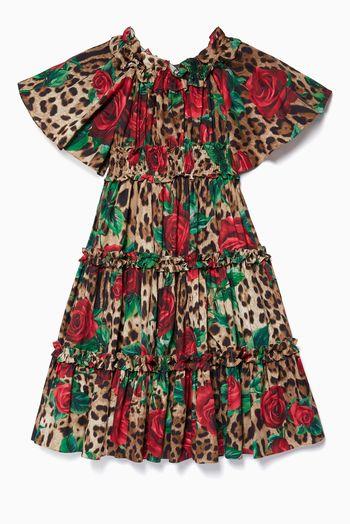 دولتشي اند غابانا فستان بنقشة جلد الفهد متعدد الألوان اسعار ماركات عالمية فخمة راقية In 2020 Dresses Fashion Cold Shoulder Dress