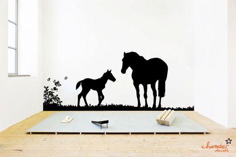 Horse Wall Decal. $85.00, via Etsy.