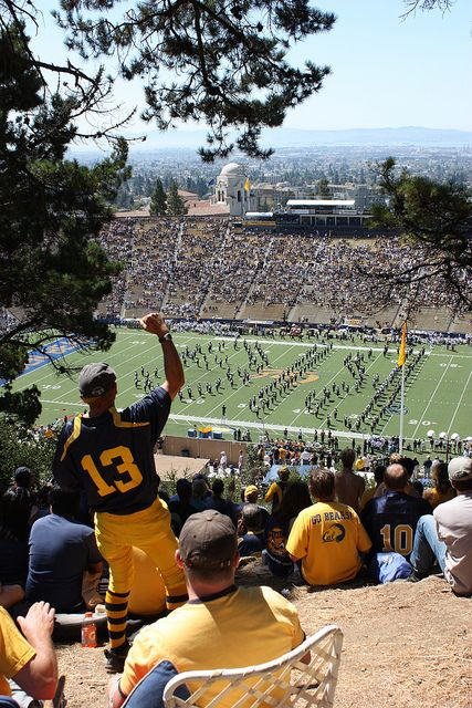 Cal football game.  So very Berkeley.  And what a view!