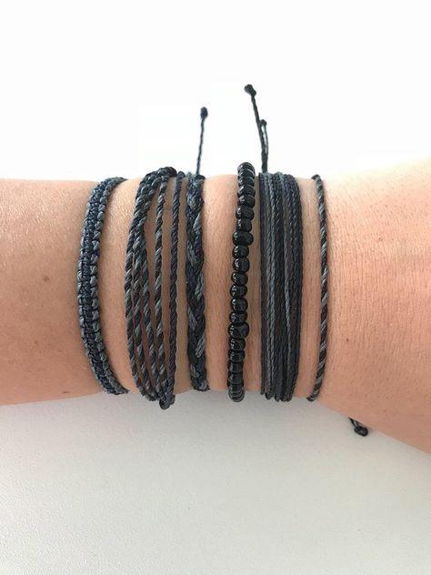 Wax String Bracelets Waterproof Durable Jewelry Surfer Bracelet Friendship B