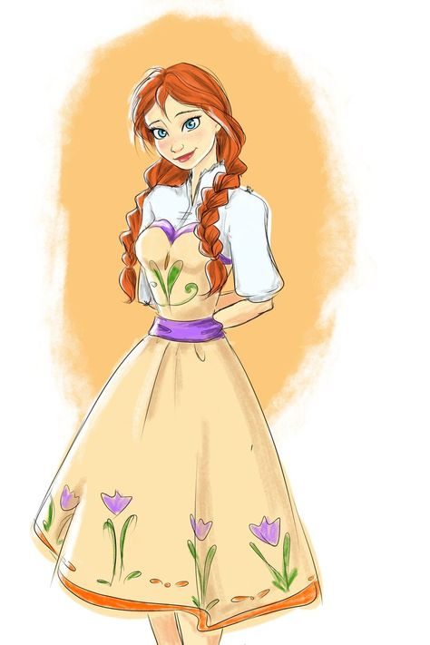 Anna-I love her outfit in this one! It really fits the style that the movie established!