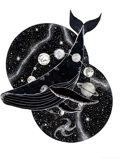 Cosmic Whale Print – Rosewire Design Co.