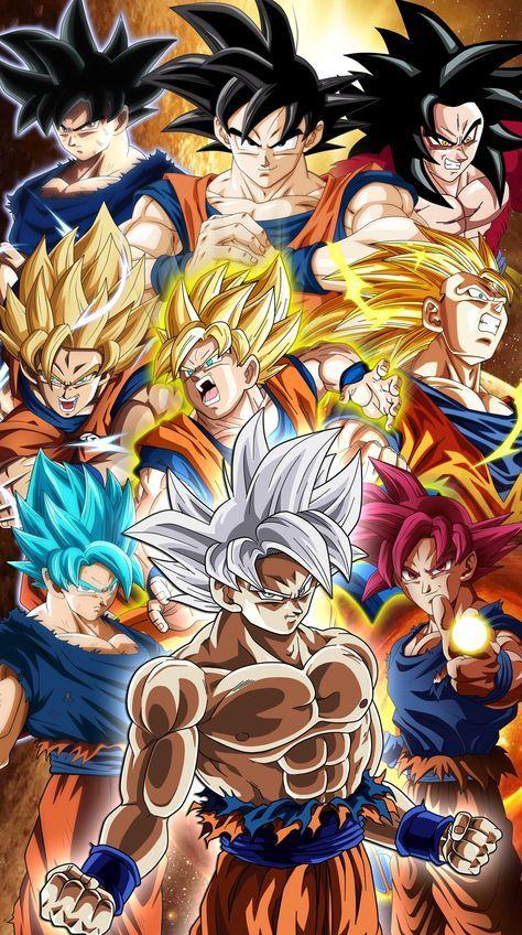All Goku transformations  Fondo de pantalla | Dragon ball