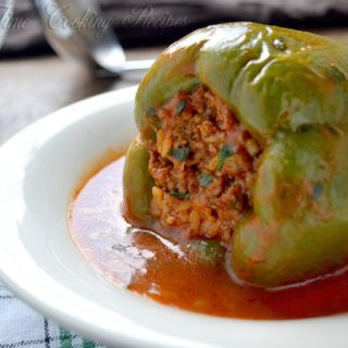 Recipe For Stuffed Bell Pepper With Ground Beef And Rice In 2020 Green Bell Pepper Recipes Stuffed Peppers Recipes