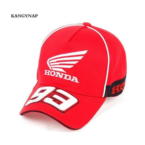 8752abe2c99 KAGYNAP Moto GP 93 Motorcycle Baseball Cap Outdoors Sports Polo Hats 3 D  Embroidery Trucker Caps Honda Casquette Snapback Caps
