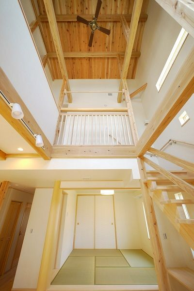 高さ最大8メートルの吹き抜け 健康住宅 全館空調 木造住宅