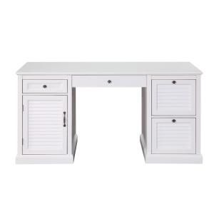 Usl White Chapman 4 Drawer Desk Sk19277a3 Pw Desk With Drawers Desk Drawers