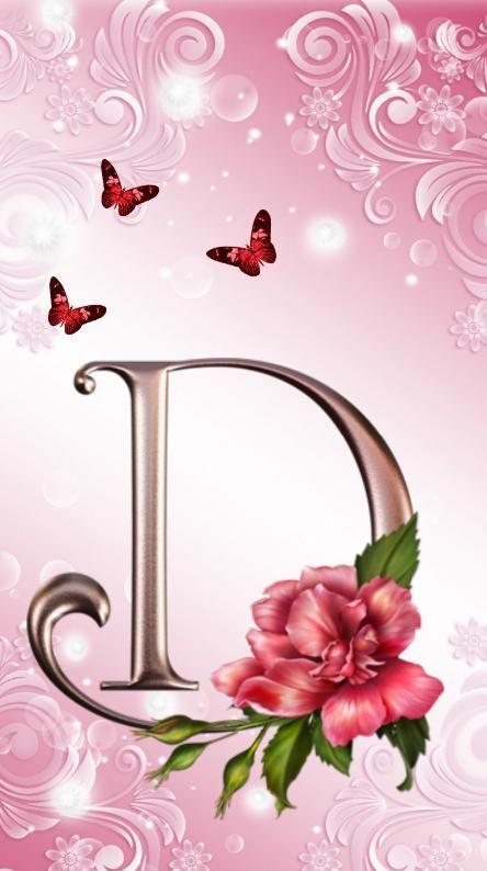 Letter D Alphabet Wallpaper Rose Gold Wallpaper Iphone Phone Wallpaper Patterns