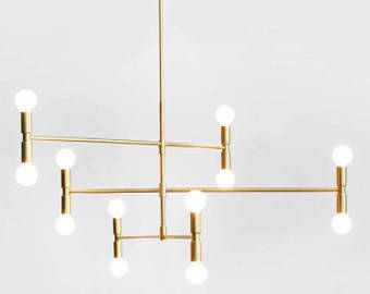 Modern Multi Bulb Rotatable Chandelier Gold And Black My Favorite For Your Bedroom Pendant Lamp Chandelier Hanging Light Lamp