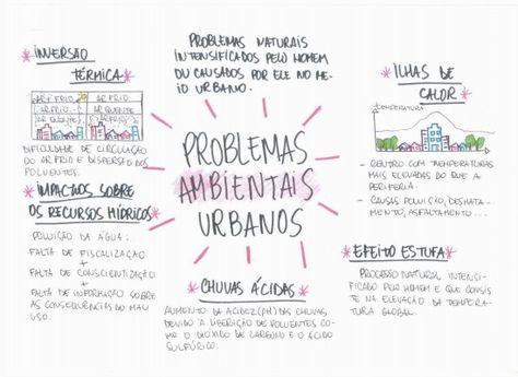 Mapa Mental: Problemas Ambientais Urbanos