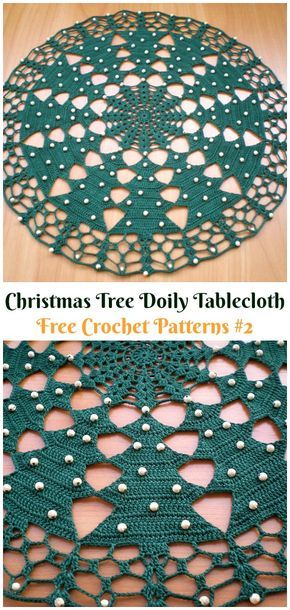 Christmas Tree Doily Tablecloth Free Crochet Pattern Christmas Doily Crochet Free Pa Christmas Crochet Patterns Crochet Doily Rug Crochet Christmas Trees