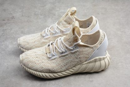 Mens Adidas Tubular Doom Sock Primeknit Clear Brown Chalk White On