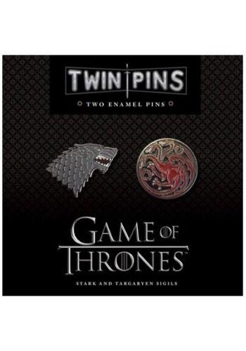 Game Of Thrones Stark Targaryen Twin Enamel Pin Set Game Of Thrones Pin Game Targaryen Sigil