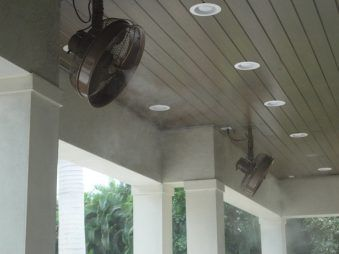 Residential Outdoor Mist Cooling Fans And Systems The Misting