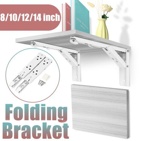 Home Improvement In 2020 Folding Shelf Bracket Wall Mounted Table Wall Shelves