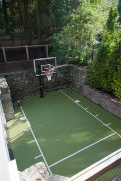 Sport Court Design Ideas Pictures Remodel And Decor Traditional Landscape Backyard Basketball Backyard Sports Indoor Basketball Court