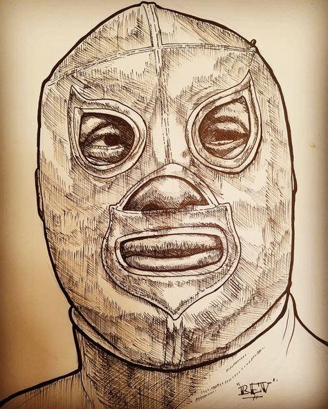Dellobocomics El Santo Ink On Board Carteles De Lucha Libre El Enmascarado De Plata Mascaras De Luchadores