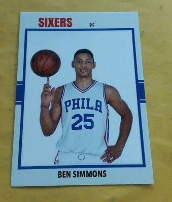 b4f60149 ... 2016 Ben Simmons Philadelphia 76ers Sixers rc custom rookie 1 pick NBA  Draft ben simmons Pinterest