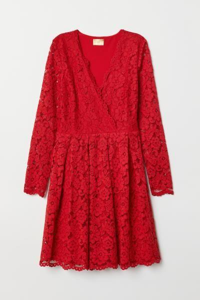 röd klänning stor storlek