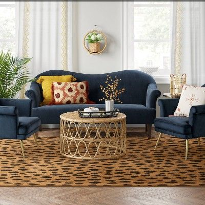 10 X13 Leopard Spot Woven Rug Copper Opalhouse In 2020 Living Room Designs Area Rugs Blue Area Rugs