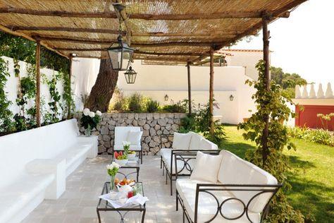 estupenda decoración terraza pergola