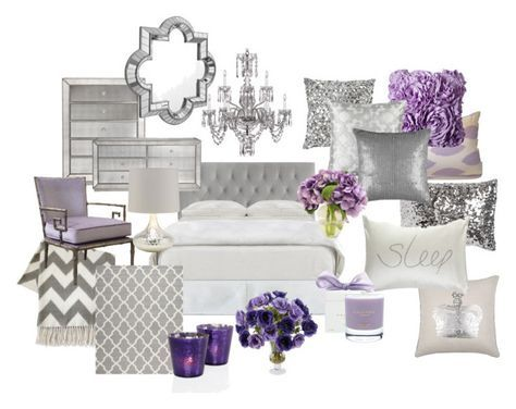 Lavender And Grey Bedroom With Images Silver Bedroom Purple Living Room Purple Bedrooms
