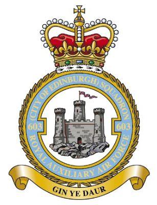 Holyrood Week No 603 City Of Edinburgh Squadron Reception And Badge Royal Air Force Badge