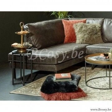 Leren Donkerbruine Bank.Lifestyle Perugia Leren Hoekbank Groen Perugia Lounge Sofa
