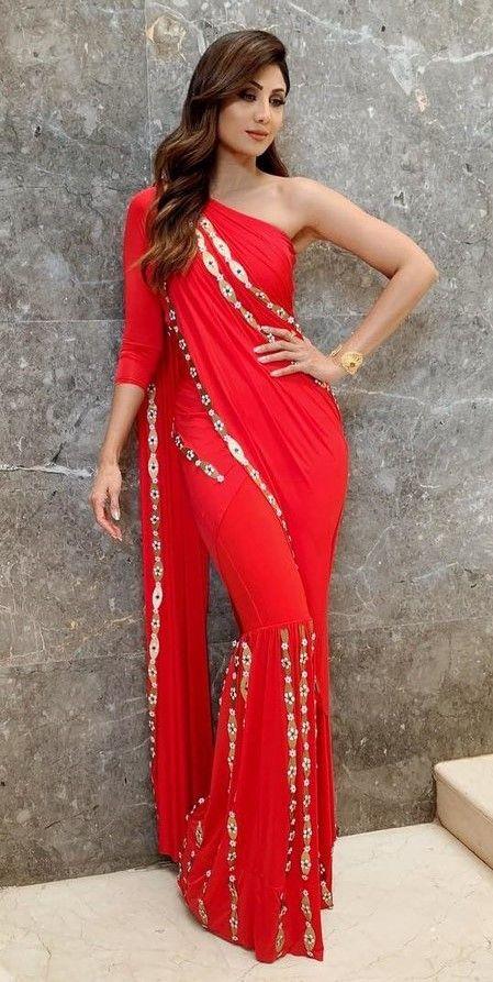 Drape your saree over the sharara pants