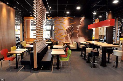 Un fast food réparti sur deux étages