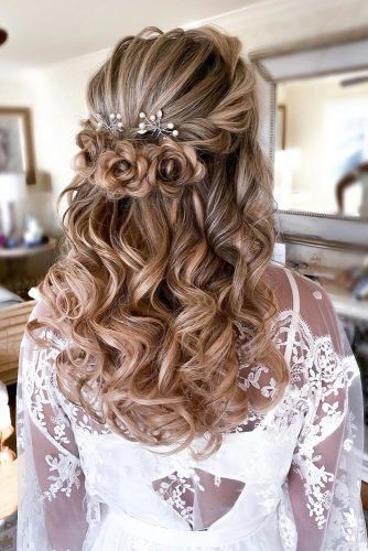 39 Best Pinterest Wedding Hairstyles Ideas Wedding Forward Hair Styles Loose Curls Hairstyles Quince Hairstyles