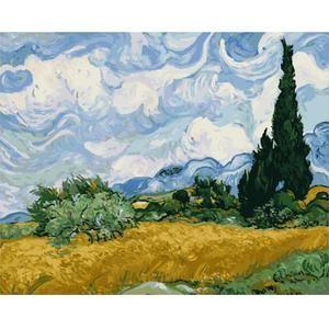 Vincent van Gogh Landscape Paint By Numbers Kit DIY Number Canvas Painting Oil
