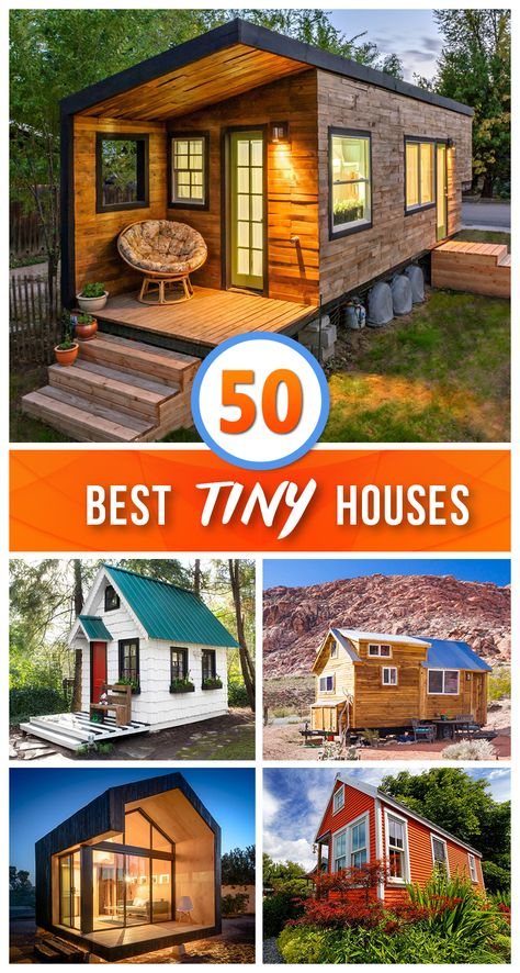50 Beautiful Tiny Houses that Maximize Space 🏠