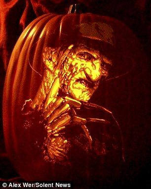 freddy krueger pumpkin carved by jason burns pumpkins i have carved pinterest freddy krueger - Freddy Krueger Halloween Decorations