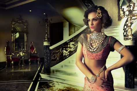 Bridal look in Reveti's Mughal Collection