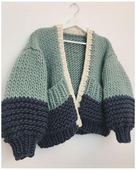Knit Cardigan Pattern, Crochet Cardigan, Knit Crochet, Chunky Knit Cardigan, Vest Pattern, Crochet Crafts, Crochet Crop Top, Easy Crochet, Crochet Clothes