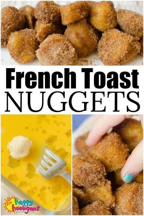 Kids Meals French Toast Nuggets are a fun and easy lunch idea that kids can make themselves. Dipped in egg, fried crispy brown and dusted with sugar and cinnamon, this finger-food version of French Toast is a lunch-time favourite for kids of all ages. Breakfast Desayunos, Breakfast For Kids, Breakfast Finger Foods, Healthy Kids Breakfast, Yummy Breakfast Ideas, Birthday Breakfast, Delicious Breakfast Recipes, Wedding Breakfast, Brunch Recipes