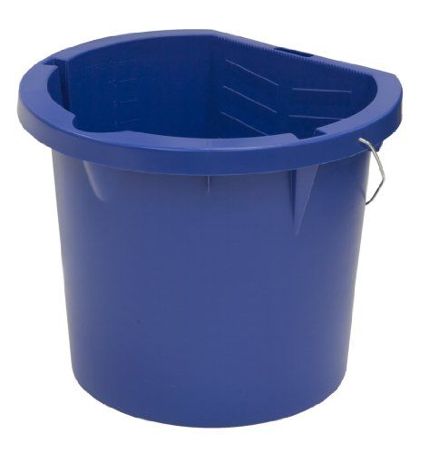 United Solutions Pn0003 Pack Of Six Three Gallon Blue Plastic Pail 3 Gallon Plastic Paint Bucket In Blu Plastic Pail Home Storage Organization Paint Buckets