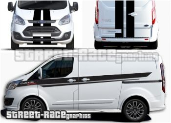 Ford Transit Custom Sport Full Stripes 007a Uk Version Street Race Org High Quality Car Stickers Car Decals And Vehicle Graphics In 2020