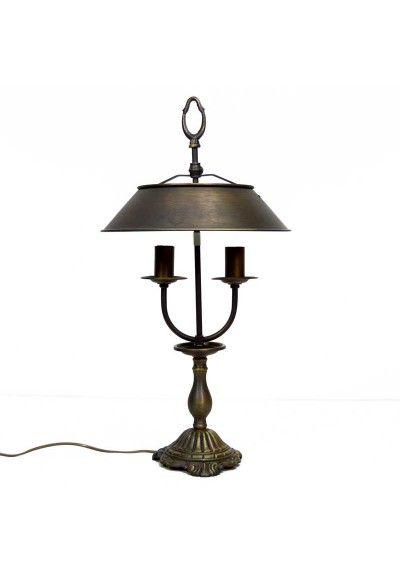 Lámpara de sobremesa con plafón con altura ajustable, estilo