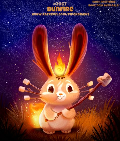 Daily Paint Bunfire by Cryptid-Creations