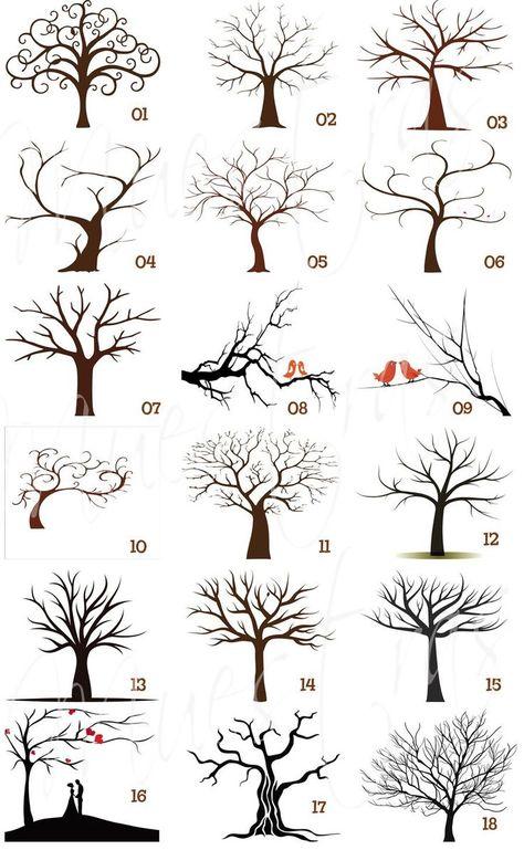 Tree structure, shapes. Draw Pattern – Como dibujar arboles…