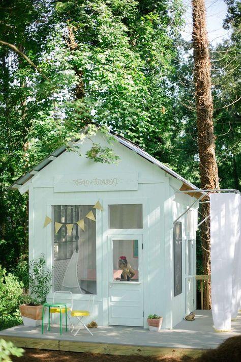 Gartenhaus, Spielhaus, Kinderspielhaus, Kindergartenhaus, DIY - garten selbst gestalten tipps