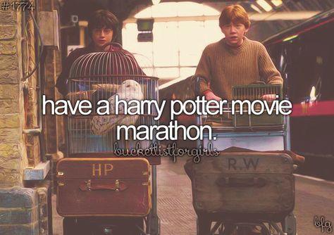 #312 Have a Harry Potter Movie Marathon