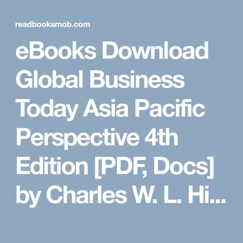 Global Business Today Ebook