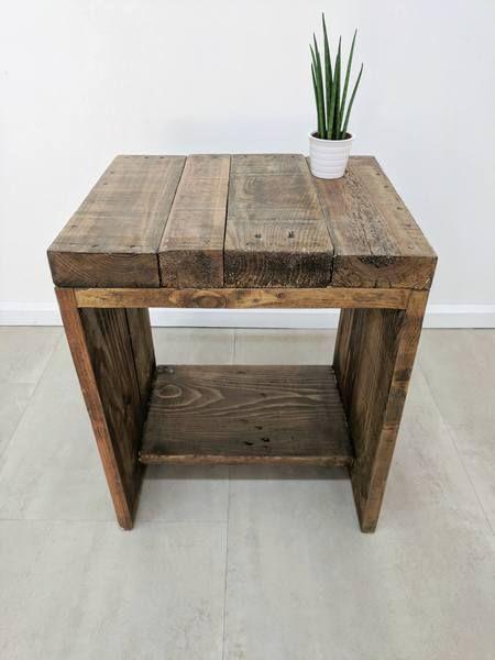 Characterful Bedside Table Lauake In Medium Oak Finish Wood