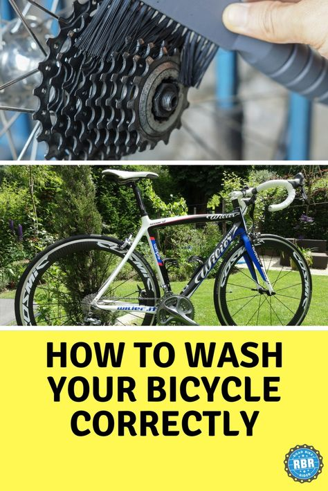 Learn how to wash your bicycle without harming it. cycling How to Wash A Bicycle: 10 Bike Washing Don'ts and Do's Cycling For Beginners, Cycling Tips, Cycling Workout, Road Cycling, Cycling Quotes, Bike Workouts, Bicycle Workout, Swimming Workouts, Swimming Tips