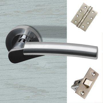 Neptune Door Handle Pack Polished Chrome Satin Nickel Door Handles Fire Doors Doors