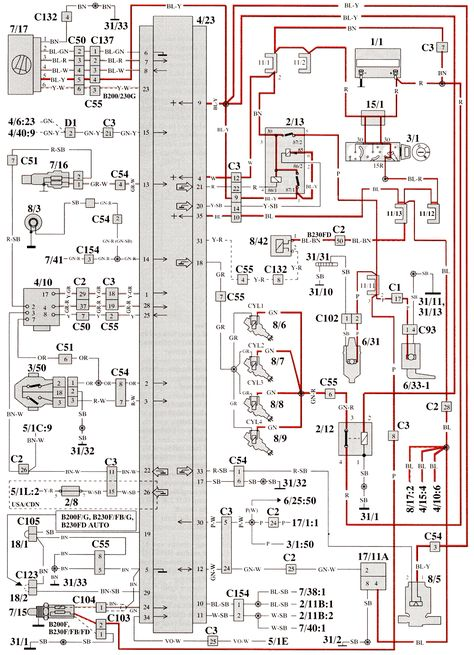 Volvo Service Manual Section 3 37 Component Wiring Diagram