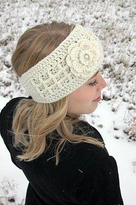 Crocheted headband. Inspiration only.